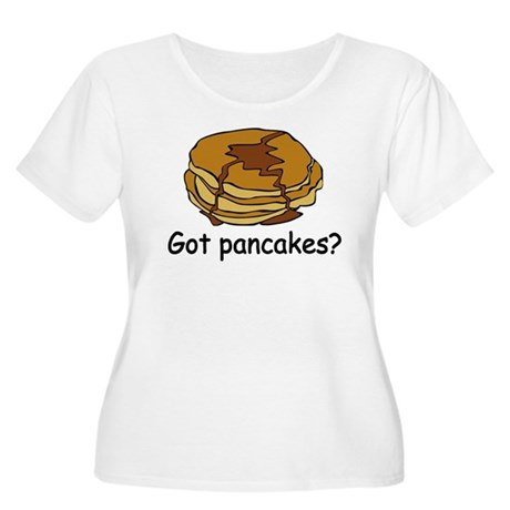 Got pancakes? Women's Plus Size Scoop Neck T-Shirt