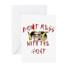 Don't Mess with Goat Greeting Card