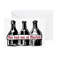 YOU HAD ME AT MERLOT Greeting Cards (Pk of 20)