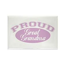 Proud Great Grandma Rectangle Magnet