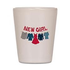 New Girl Laundry Shot Glass