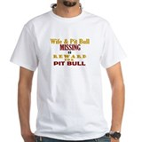 Wife & Pit Bull Missing Shirt