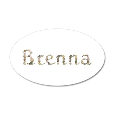 Brenna Seashells 20x12 Oval Wall Decal