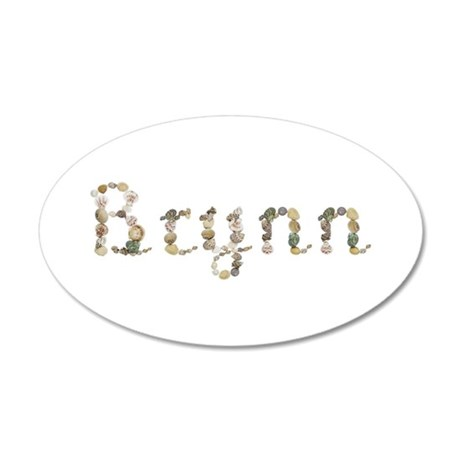 Brynn Seashells 20x12 Oval Wall Decal