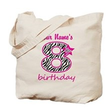 8th Birthday - Personalized Tote Bag