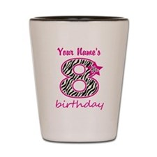 8th Birthday - Personalized Shot Glass