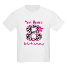 8th Birthday - Personalized T-Shirt