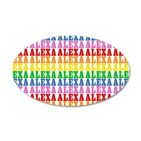 Rainbow Name Pattern 20x12 Oval Wall Decal