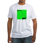 Funny Ferret Fitted T-Shirt