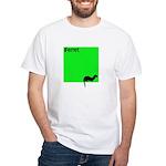 Funny Ferret White T-Shirt