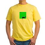 Funny Ferret Yellow T-Shirt