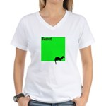 Funny Ferret Women's V-Neck T-Shirt