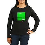 Funny Ferret Women's Long Sleeve Dark T-Shirt