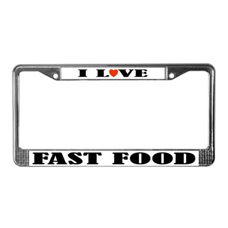 Fast Food License Plate Frame