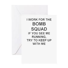 BOMB SQUADBLUE.rtf Greeting Cards