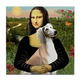Mona Lisa (new) & Saluki Tile Coaster