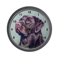Hot Choc Lab Wall Clock