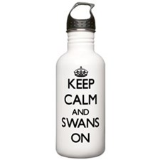 Keep Calm and Swans ON Water Bottle