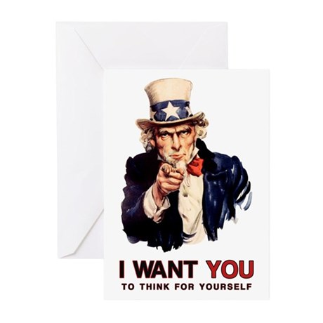 Think For Yourself Greeting Cards (10 pk)