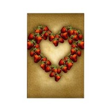 Strawberry Heart Rectangle Magnet