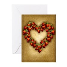 Strawberry Heart Greeting Cards (Pk of 20)