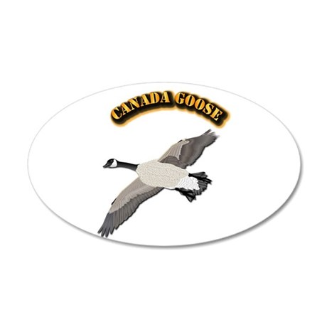 Canada goose-w Text 20x12 Oval Wall Decal