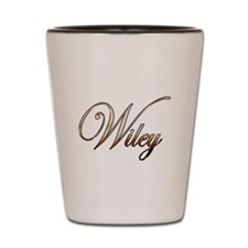 Gold Wiley Shot Glass