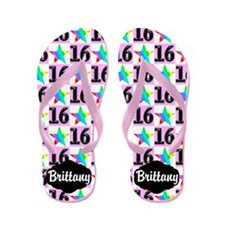 Personalized 16th Flip Flops