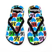 Customized 16th Flip Flops