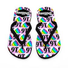 Add Name Sweet 16th Flip Flops