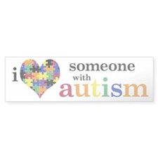 I HEART Someone with Autism - Bumper Bumper Sticker