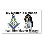 Masonic Dog House Rectangle Sticker