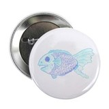 "Blue Fish by Wendy C. Allen 2.25"" Button (100 pack"