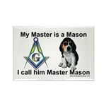 Masonic Dog House Rectangle Magnet