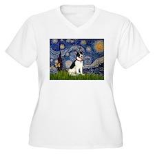 Starry Night & Rat Terrier T-Shirt