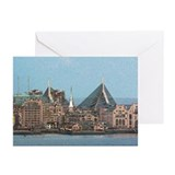 Artistic Zakim Bridge Greeting Cards (Pk of 20)