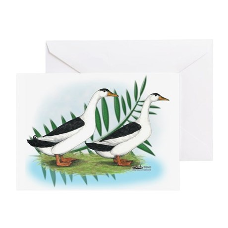Magpie Drake and Duck Greeting Card