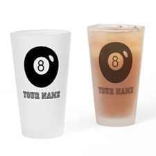 Black Eight Ball (Custom) Drinking Glass