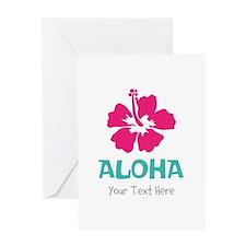 Hawaiian flower Aloha Greeting Cards