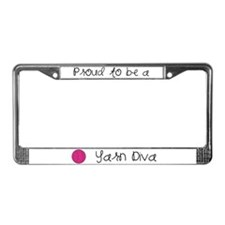 Yarn Diva License Plate Frame