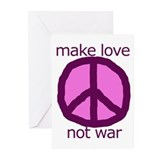 Make love. Not war. Greeting Cards (Pk of 10)