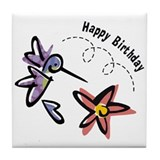 Hummingbird Birthday Tile Coaster
