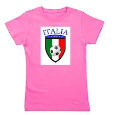 Cute Italian soccer Girl's Tee