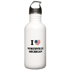I love Northville Mich Water Bottle