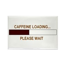 CAFFEINE LOADING... Rectangle Magnet