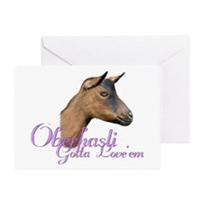 Oberhasli Goat Gotta Love'em Greeting Card