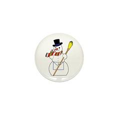 The Masonic Snowman Mini Button (100 pack)
