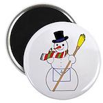 The Masonic Snowman Magnet
