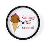 GIMME ICE CREAM Wall Clock