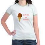 GIMME ICE CREAM Jr. Ringer T-Shirt